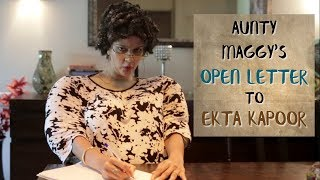 """Open letter to Ekta kapoor, Hindi TV serials, daily soaps in """"It"""
