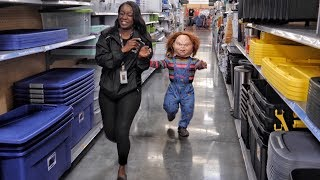 Chucky Scares People In Public Prank | Ross Smith
