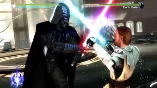 Star Wars The Force Unleased 2 Obi Wan vs Darth Vader