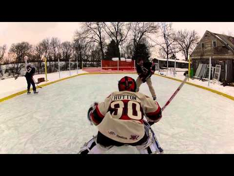 backyard hockey gopro hd