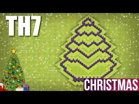 Clash Of Clans Th7 Christmas Tree Base 2016 Town Hall 7