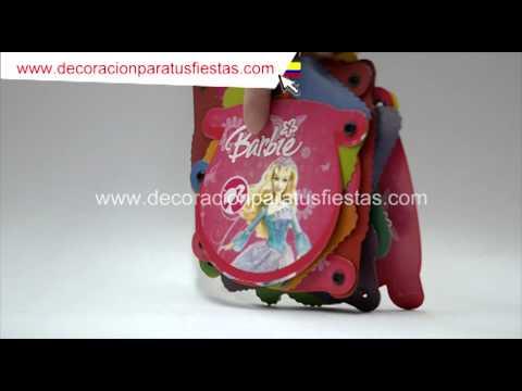 Guirnalda de cumpleaños con tema de Barbie
