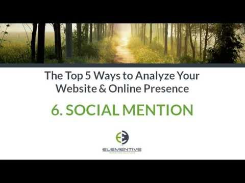 Top 5 Web Analytics Tools: Social Mention