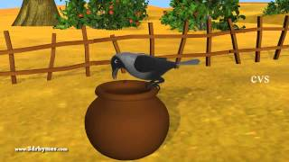 Ek Kauwa Pyaasa tha Poem - 3D Animation Hindi Nursery Rhymes for Children with Lyrics