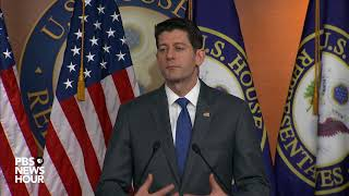 WATCH: Speaker Ryan holds weekly press briefing