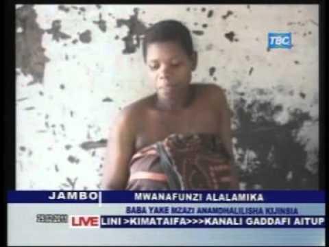 Baba afanya dhambi kwa mtoto wake via TBC Taifa