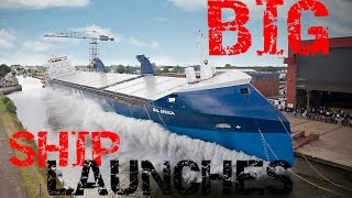 BIG SHIP LAUNCHES COMPILATION 2016 HD|BIGGEST BOAT LAUNCHES 2016