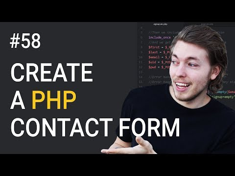 58: How to Create A PHP Contact Form   PHP Tutorial   Learn PHP Programming   HTML Contact Form