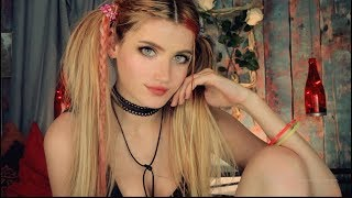 ASMR - Care of YOU after a Home Party! MOUTH sounds ♥ HAIR&FACE brushing