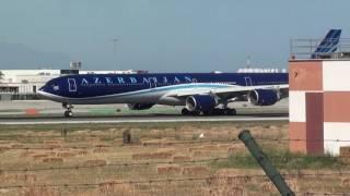 Azerbaijan Airlines Airbus A340-600 4K-AI08 Take Off Malaga LEMG