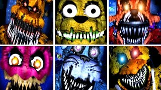 Five Nights at Freddy's 4 All Jumpscares | All Jump Scare Deaths