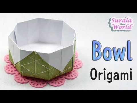 Origami Bowl Dish How to make a Paper Bowl Tutorial
