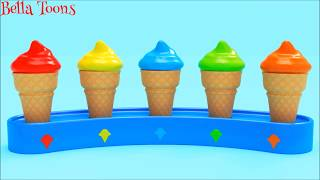 🍦3D SOFT ICE CREAM🍦LEARN COLORS FOR KIDS🍧CARTOON FOR CHILDREN BABIES TODDLERS🍓FUNNY 3D ANIMATION