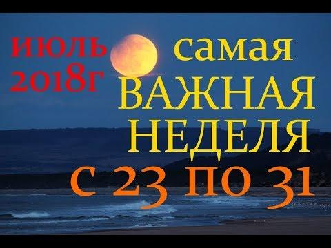 ВОДОЛЕЙ. ПРОГНОЗ НА НЕДЕЛЮ с 23 по 31 ИЮЛЯ 2018г.+ БОНУС ПОЛНОЛУНИЯ!
