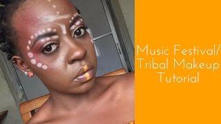 Music Festival/Tribal Makeup Tutorial   OmogeMuRa