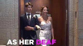 Bride signs wedding song to her deaf husband 😍