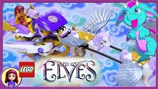 Lego Elves Aira's Pegasus Sleigh Set Baby Dragon Build Review Play - Kids Toys