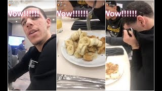 Channing Frye can't believe how Lonzo Ball eats his breakfast