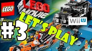 Let's Play LEGO Movie - Part 3: Super Cycle Chase | Father Son Co-Op Walkthrough Wii U