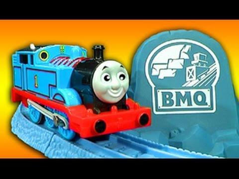 Thomas The Tank Risky Rails Bridge Drop & Cranky Crane Train Wreck