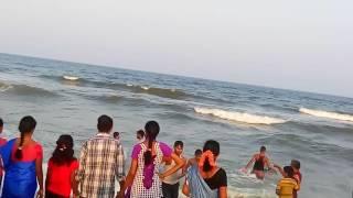 Merina beach scene in chennai