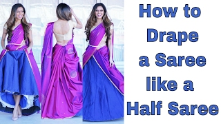 How to wear a Cancan Saree | Tia Bhuva