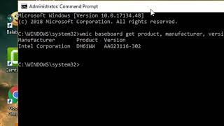 Find Your Motherboard Model Number using Command Prompt