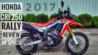 2017 Honda CRF250 RALLY Review of Specs | CRF 250 Adventure / Dual-Sport Motorcycle | CRF250LR