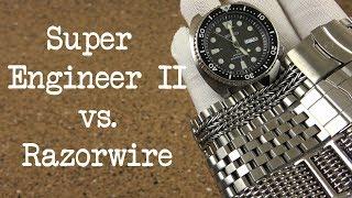 Strapcode Super Engineer II vs. Uncle Seiko Razorwire on the Seiko Turtle