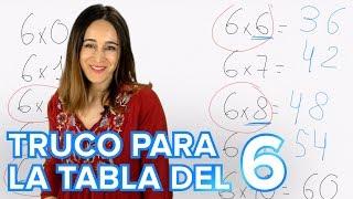 Truco de la tabla de multiplicar del 6 | Matemáticas para niños