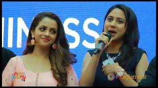 Bhavana and Mia George at Hello Namaste Malayalam Movie Audio Launch