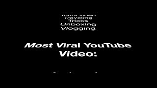 Most search word, most viral videos on Youtube & Hot YouTube channel ideas.