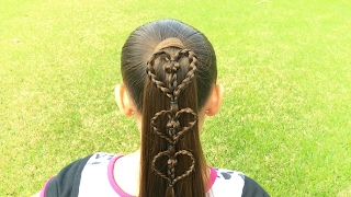 💕Valentines Heart Accents On A Ponytail💕