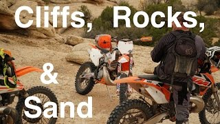 Cliffs, Rocks, and Sand on the 2017 KTM 300 XC - Episode 214