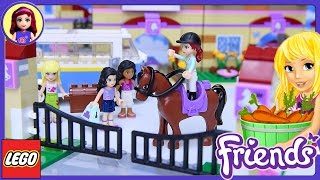 Lego Friends Summer Riding Camp Build Review Silly Play Part 1 - Kids Toys