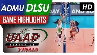 UAAP 78 WV Finals: ADMU vs DLSU Game Highlights