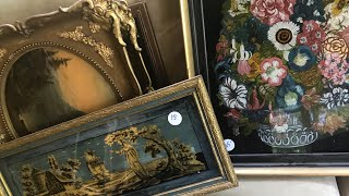 Shopping Hoarders estate sale tons of antiques and treasures Lots of tools and Interesting paintings