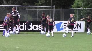 Séance entrainement football - AJAX AMSTERDAM  Ecole de foot - Travail technique - Méthode Coerver