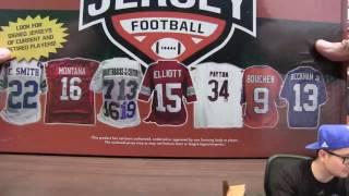 6/16 - 2017 Leaf Autograph Jersey Mini Helmet Football 16 Box Double Case Break Random Team