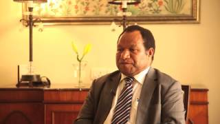 Short Interaction with Hon  William Duma, Minister for Petroleum and Energy, PNG