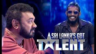 රැප් එකට නොදෙවෙනි ජැක්සන්ගේ සවුදම | SLGT -Rap Performance by Minimi | Sri Lanka's Got Talent 2018