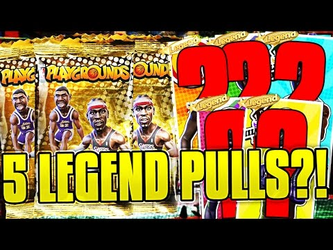 5 LEGEND PULLS?! 2 LEGEND PULLS IN 1 PACK!!! INSANE NBA PLAYGROUNDS PACK OPENING!