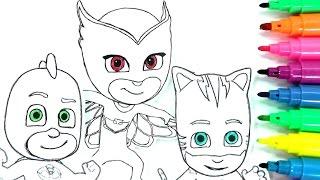 ROTULADORES MÁGICOS DE LOS PJ MASKS O HÉROES EN PIJAMAS CON DIBUJOS SORPRESA. color wonder PJ Masks.