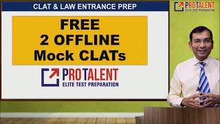 Free 2 Offline Mock CLAT by ProTalent I A must download by CLAT Aspirants