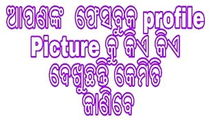 How to know who see your Facebook profile picture in odia