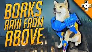 Overwatch Funny & Epic Moments 101 - BORKS RAIN FROM ABOVE - Highlights Montage