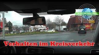 Verhalten im Kreisverkehr - Fahrstunde - Prüfungsfahrt - Führerschein