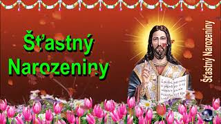 0 132 Czech Happy Birthday Greeting Wishes includes Jesus  Christ  with Bible by  Bandla