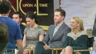 Once upon a time Cast  Josh Dallas, Lana Parrilla, Colin o'Donoghue at GMA in NYC
