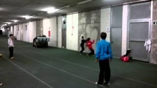 Cañada benjamín jugando un rondo en  estadio mediterráneo.mp4
